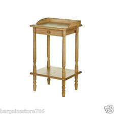 Premier Housewares Rubberwood Rectangle Telephone Table With Drawer 62 X 36