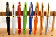 Jinhao No. 159 Medium Fountain Pens with Gold Trim, 8 Finishes, UK Seller