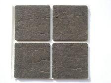 4 patins adhesifs marron autocollant 50x50mm pour meuble, canapé, ...