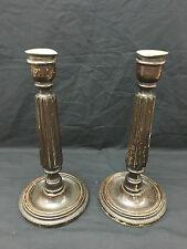 antica Coppia di candelieri inglesi in legno fine 800