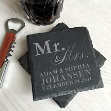 stone coasters, custom coasters, drink coasters, personalized wedding gifts