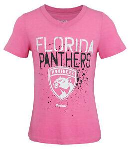 Reebok NHL Youth Girls (7-16) Florida Panthers Graffiti V-Neck Short Sleeve Tee