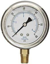 Liquid Filled Pressure Gauge Compressor Lower Mnt 15 Face 0 60 18 Npt