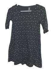 Old Navy Girls Tunic Top Sz 10/12 Gray Abstract Dot