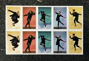 2021USA Forever - Tap Dance - Block of 10 From Sheet  mint postage