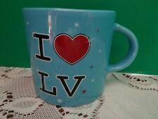 Coffee Cup Mug I Love Lv Las Vegas Half Blue Hearts Love