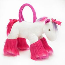 "Olly & Friends Plush White & Pink Pony Child's 18"" Overnight Bag Purse NEW"
