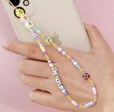 Love Handy Perlenkette, Handyperlenkette Handykette, Handy Kette, Handy Anhänger