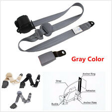 3 Point Retractable Car Safety Seat Belts Lap for Cars With Curved Rigid Buckle