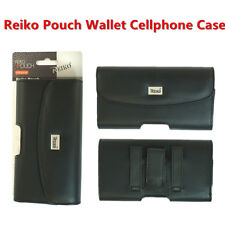 Reiko Full Leather Samsung Galaxy S8+S9+Plus Note 8 Pouch Black Clip Wallet Case