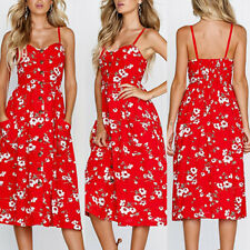 Womens Ladies Summer Beach Sundress Boho Evening Party Cocktail Long Maxi Dress