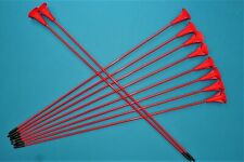 10 fibreglass practise arrows with suction cups