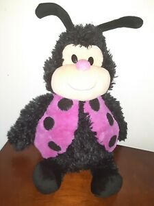 Happy Nappers Ladybug Plush Black/Pink Zip Out House~ Play Pillow Stuffed Animal