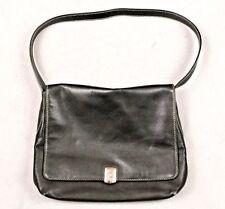 Ralph Lauren Black Leather Women's Purse Single Strap Shoulder Bag Flap Magnetic