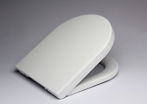 Top Angebot! WC Sitz in D-Form aus Duroplast mit Absenkautomatik Klobrille