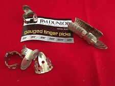 "Original Vintage JIM DUNLOP finger picks - NACHFÜLLSATZ Stärke .015"" - 20 Stück"