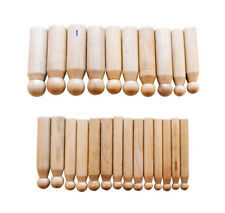 WOOD DAPPING PUNCH SET 24 PC WOODEN JEWELRY MAKING TOOLS PUNCHES SIZE 10 - 25mm