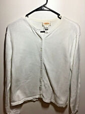 Talbots Women's Cardigan Sweater White Size Petite Large