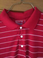 CHAPS 78 GOLF Polo SHORT SLEEVE Shirt Size L STAY-DRY POLY Blend  H-15