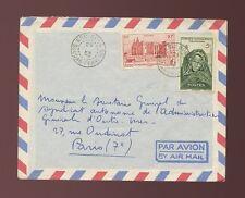 FRENCH SAHARA KOULOUBA AIRMAIL ENVELOPE UNUSUAL TYPE 1953 MALI to PARIS