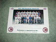 1993 Rochester Americans AHL Team Hockey Photo