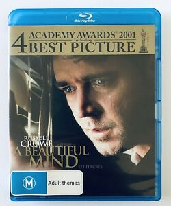 A BEAUTIFUL MIND Blu Ray VGC Movie Rated M Russell Crowe Free Postage Region B