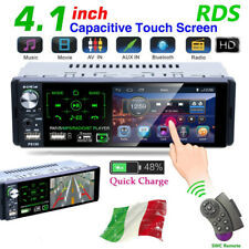 1Din 4.1'' Autoradio Touch Screen MP5 Bluetooth FM AM RDS Stereo SD USB AUX +Mic