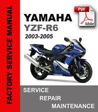 yamaha r6 yzf-r6 2003 2004 2005 factory service repair maintenance manual