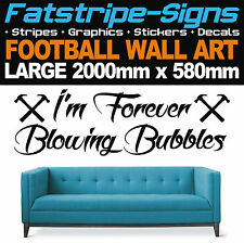 2m LARGE WEST HAM UNITED FOOTBALL BUBBLES QUOTE WALL ART STICKERS VINYL DECALS