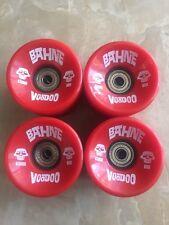 BAHNE Longboard Skateboard Wheels Voodoo Red 65mm 80a Bearings A-7 In