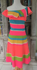 Julie Brown Empire Waisted Fit 'n' Flare Multi-Colored Dress, Size 6.  NWOT.