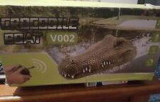 Remote Controlled Boat ⛵. 💦 Toy. Crocodile Alligator � head Prank