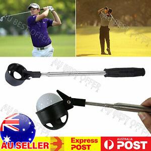 2M Golf Ball Scoop Pick Up Retriever Stainless Steel Tool Saver Shaft AU