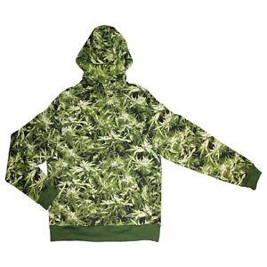 Hemp Field Hoodie - Unisex Camouflage Cannabis Weed Mens Womens