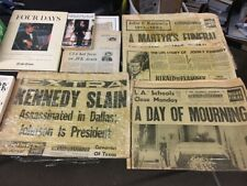 Lot Of JFK Books And Newspapers