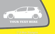 2x LOW YOUR TEXT vw Golf Mk5 R32GTITdi outline sticker 109