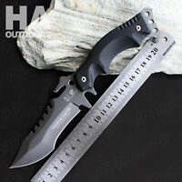 HX Outdoor Hunting Survival Fishing Camping Tactical with Sheath Army Knife