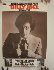 Billy Joel Poster Tour German February 9 1979