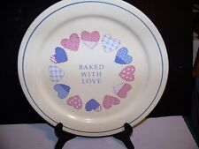 """Hallmark Auntie Em   """"Baked With Love"""" with Hearts Design Serving Plate"""