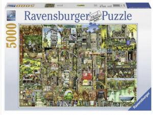 Used Ravensburger Colin Thompson: Bizarre Town 5000 Piece Jigsaw Puzzle 60 x 40