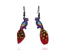Lol Bijoux - earrings Parrot - Feathers - Purple
