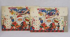 Vintage Pair Foldable Unused Christmas Candy Boxes Santa Claus Toys 1950s