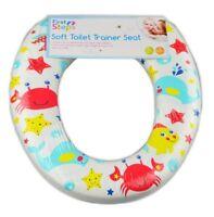 Sealife Design Kids Toilet Seat Soft Trainer Padded Bathroom Easy Clean NEW