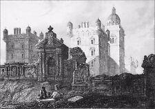 ÉCOSSE: ÉDIMBOURG - HERIOT'S HOSPITAL (ÉCOLE) - Gravure du 19e siècle