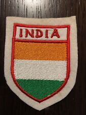 Patch toppa CM8X6 scudetto in stoffa ricamato INDIA