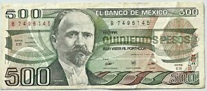 Billete de Mexico 500 pesos 1984