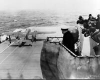 Jimmy Doolittle Raid B-25 USS Hornet Launch WWII 8x10 Photo J-250