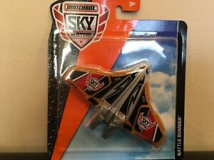 Matchbox Skybusters Multi Colored Battle Bomber Military Jet, Diecast for ages4+