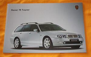 Rover 75 Tourer Prospekt 2001 Brochure Catalogue Depliant Prospetto Prospecto