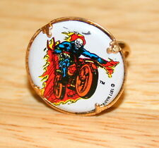 2 Vintage Toy Metal Gum Ball Machine Ring The Ghost Rider Marvel Comics 1977 NOS